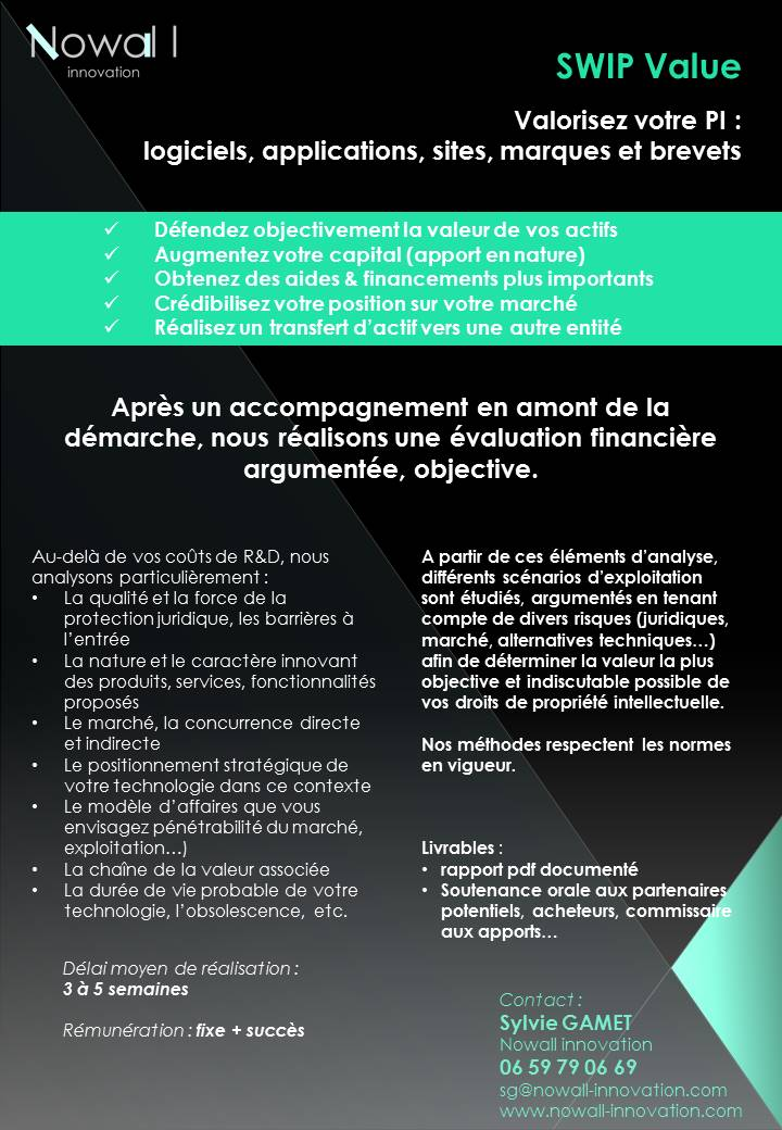 Présentation évaluation financière Nowall