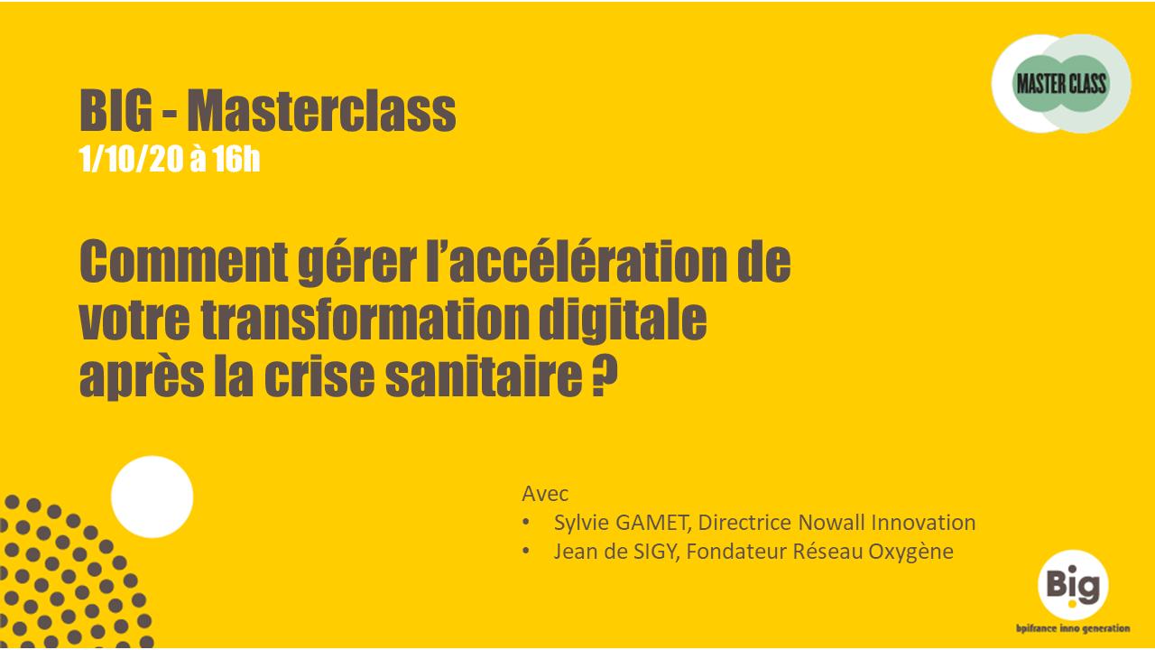 masterclass BIG digital Nowall Innovation